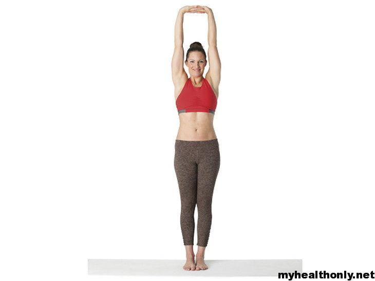 Tadasana yoga to reduce belly fat