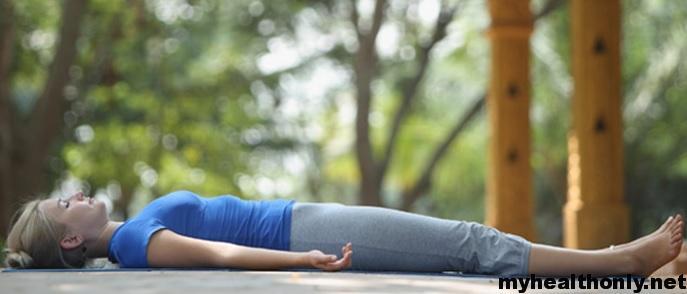 Shavasana yoga to reduce belly fat