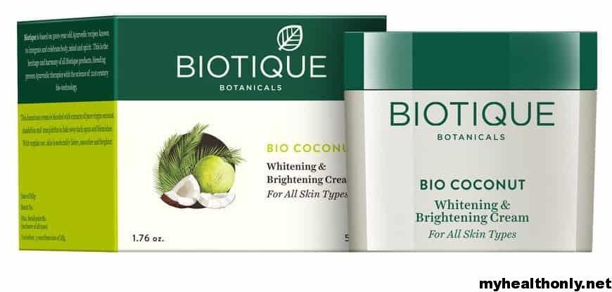 Best Skin Lightening Creams - Biotique Bio Coconut Whitening and Brightening Cream