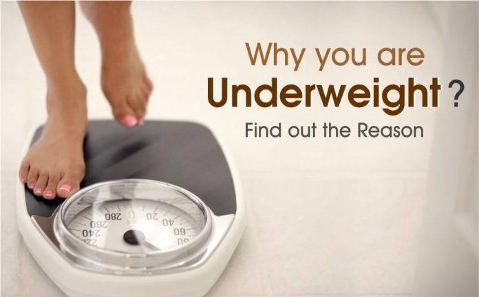 Health problems due to underweight